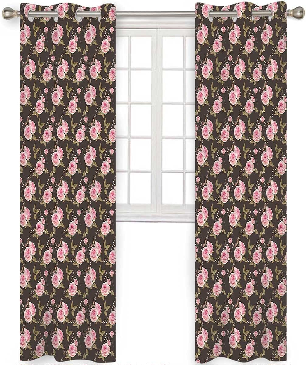 Eclipse Blackout Curtains 96 Inch Very List price popular Long Rosebuds English Gentle