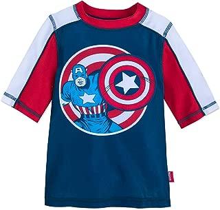 Captain America Rash Guard for Kids Blue