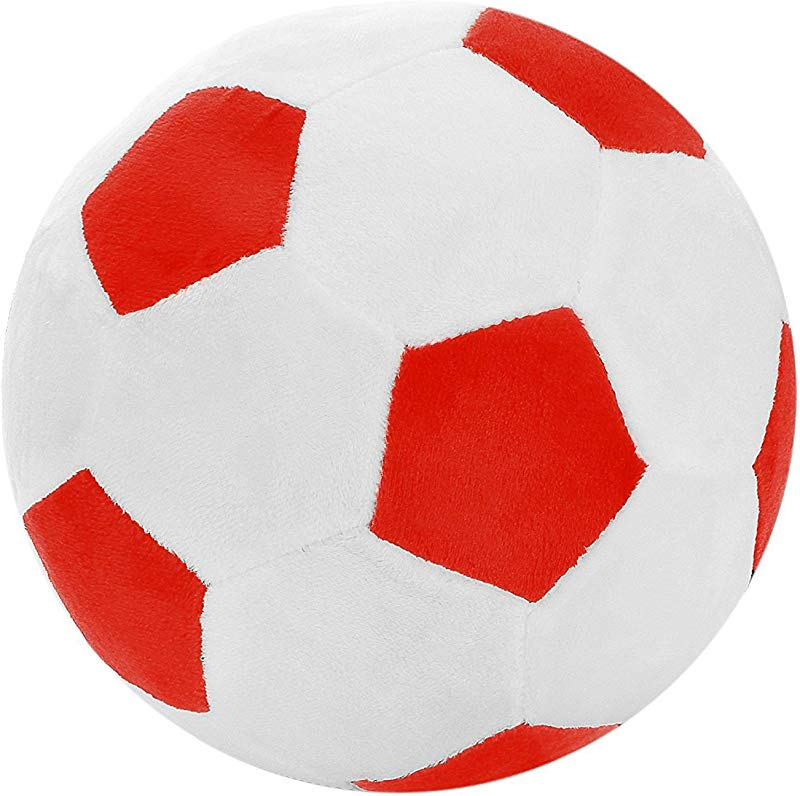 TOOGOO Soccer Sports Ball Throw Pillow Stuffed Soft Plush Toy For Toddler Baby Boys Kids Gift 8 Inch L X 8 Inch W X 8 Inch H Red