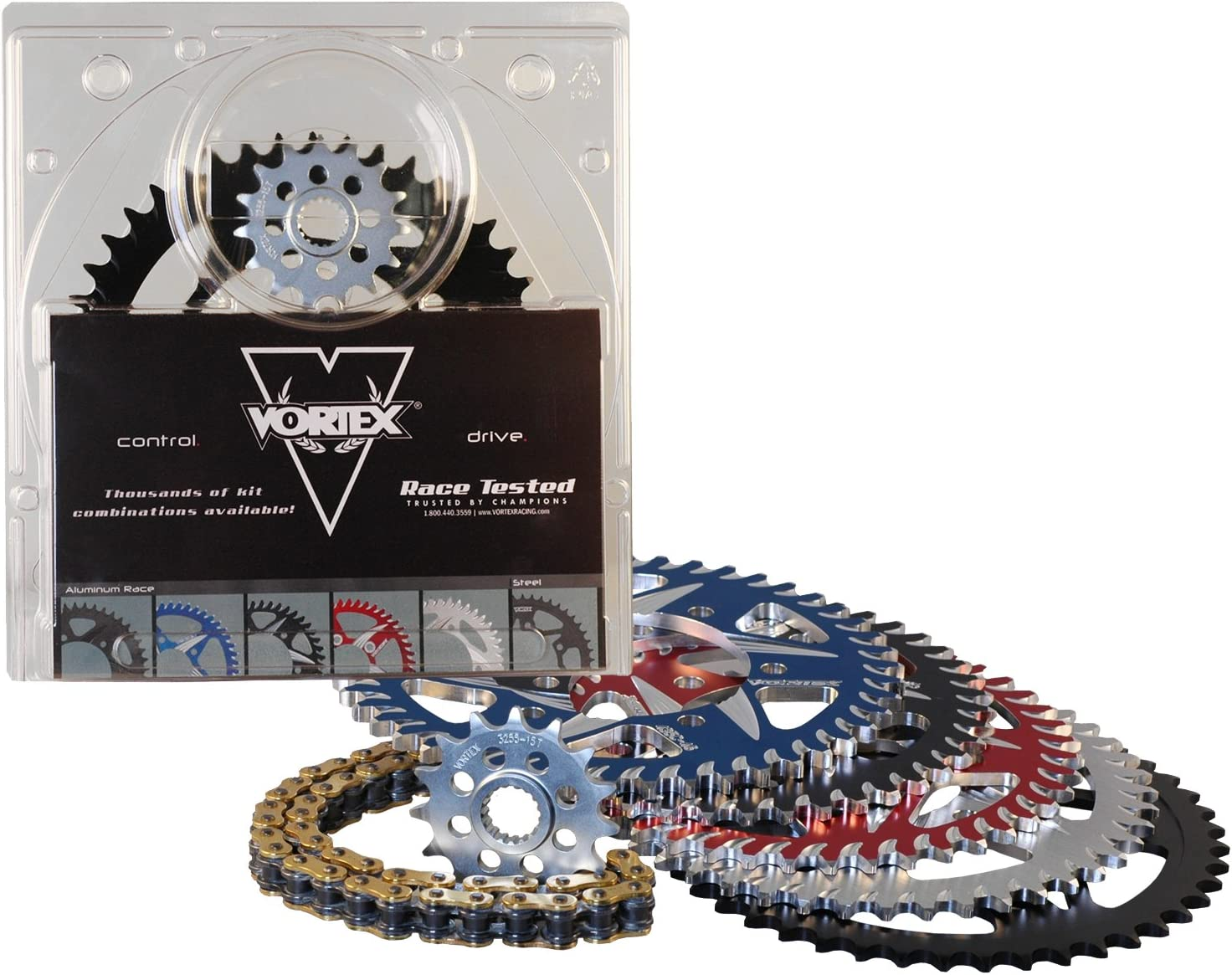 Vortex CK4103 Ranking TOP1 Chain and Kit Sprocket free shipping Black