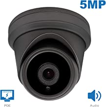 Anpviz 5MP PoE IP Camera Outdoor with Audio,(Hikvision Compatible) ONVIF Supports IP Security Camera Compatible with IVMS-4200,IP66 Weatherproof,Night Vision 98ft,Motion Detection(Grey)