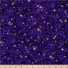 Robert Kaufman Stargazers Star Texture Violet Metallic Fabric By The Yard