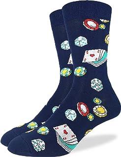 Lucky 7 Mens Black Socks