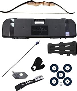 Samick Sage Take Down Recurve Bow Combo Travel Package Kit with Flight Approved Hard Case, Armguard, Stringer, Arrow Rest and Paper Target