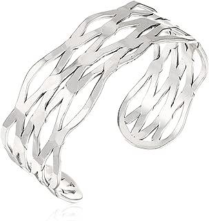 Open Cuff Bracelet, Silver, One Size