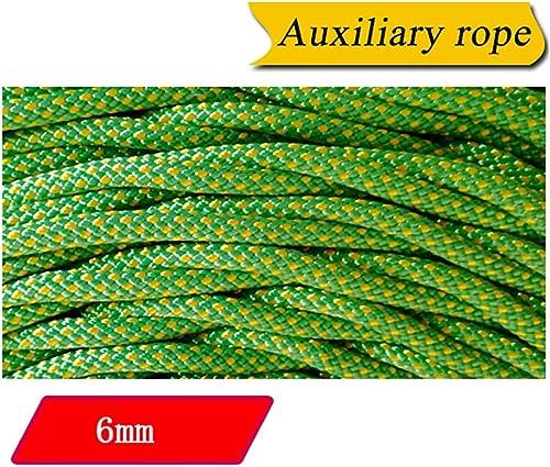 LIZIPYS Cordes Corde auxiliaire d'alpinisme Corde de sécurité Convient pour Le Regroupement la Mise en Tente Le séchage du Linge jaune6mm (0.23in) Vert Jaune
