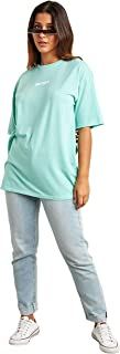 Honey Slogan Printed Oversized Fit T-shirt For Women's Green Closet by Styli