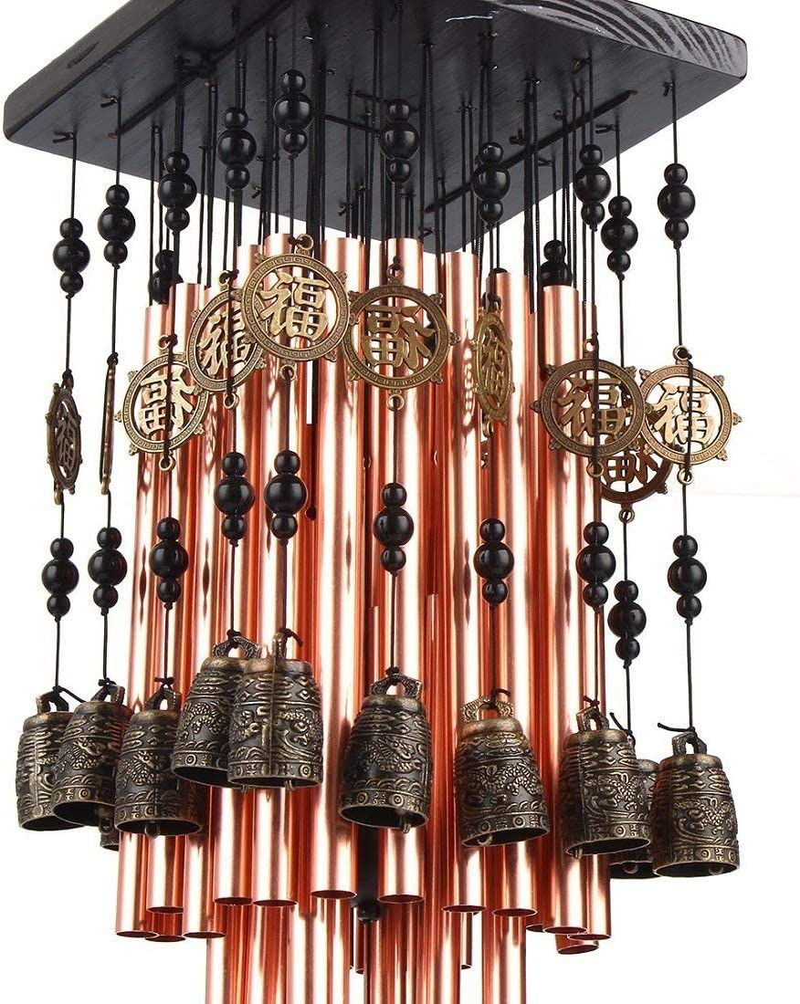 fengshuisale Outdoor Indoor 28 Metal Wind Tube Chime Copper with Award-winning store Seattle Mall