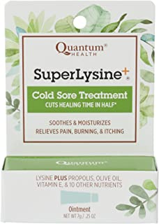 Quantum Health Super Lysine+ Cold Sore Treatment, Lip Balm Ointment - Menthol, Calendula, Propolis, Zinc Oxide - 7 gm