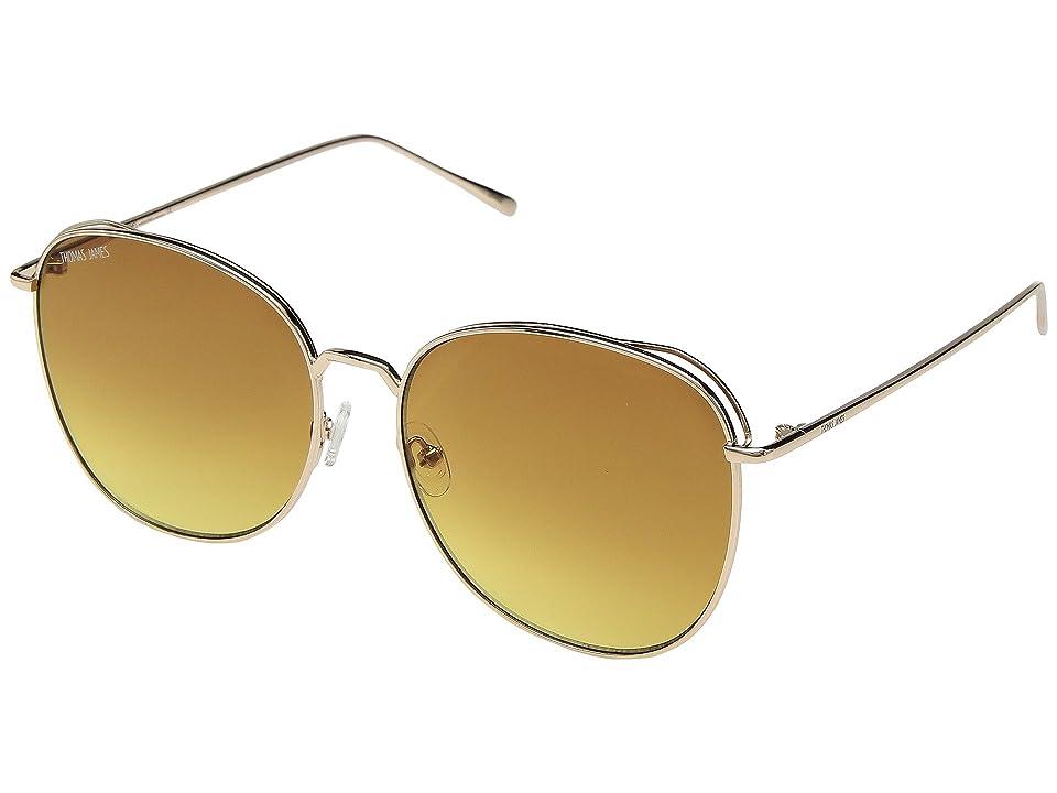 Retro Sunglasses | Vintage Glasses | New Vintage Eyeglasses THOMAS JAMES LA by PERVERSE Sunglasses Joy GoldHoney Amber Gradient Lens Fashion Sunglasses $55.00 AT vintagedancer.com