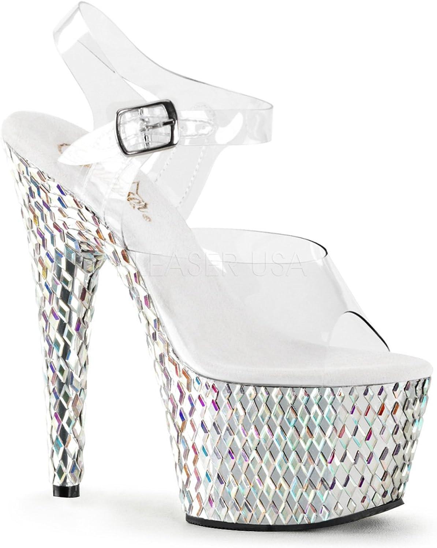 Pleaser Woherrar Woherrar Woherrar Beyeveled 708DS Ankle -Strap Sandal  mode varumärken