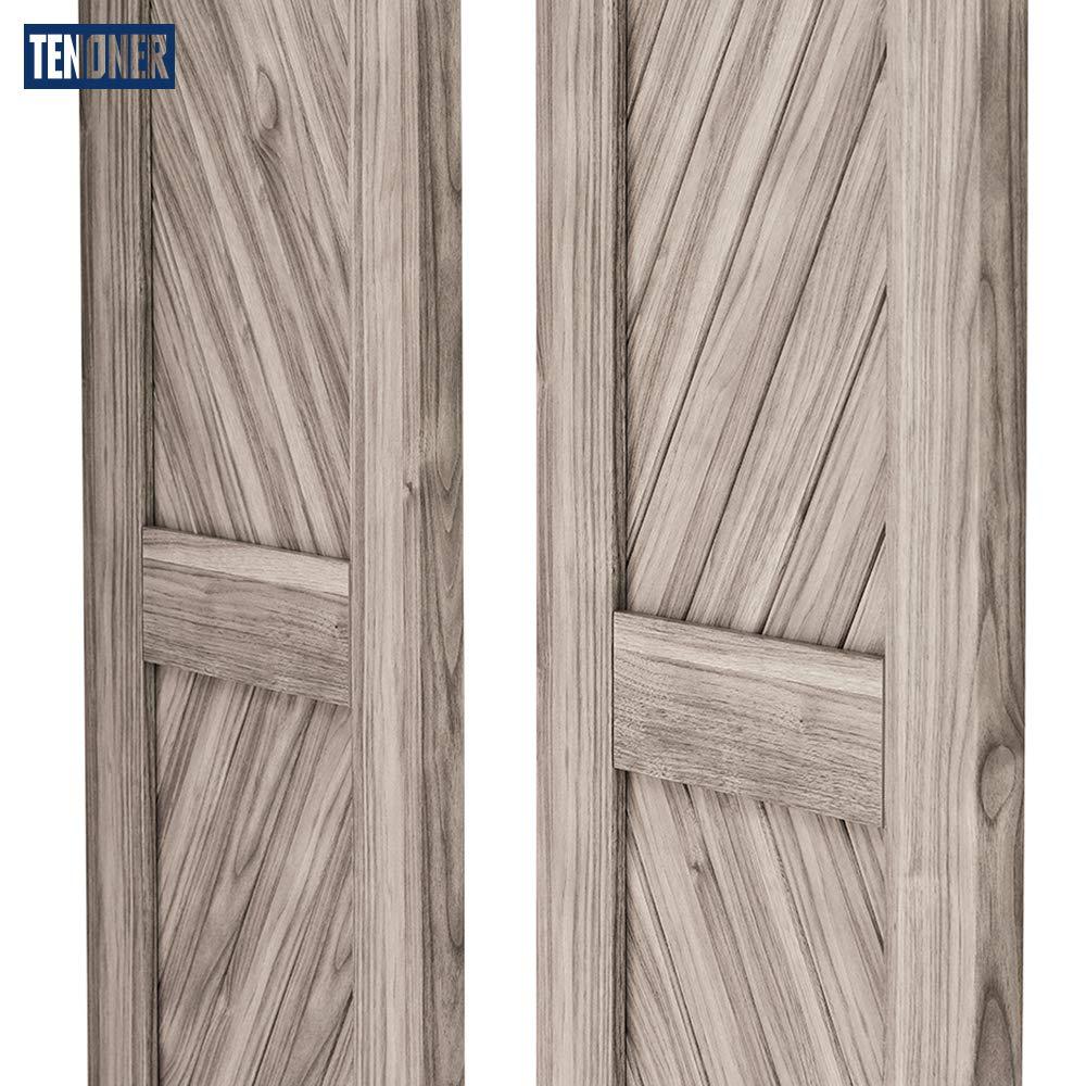 Tenoner - Puerta corredera de granero con marco en H, color gris, 91,4 x 213,4 cm (puerta doble): Amazon.es: Bricolaje y herramientas