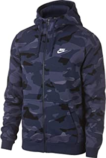 Nike Mens Club Camo Basketball Full Zip Hoodie