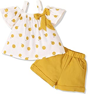 Infant Toddler Baby Girl Clothes Ruffle Short Sleeve Tops...