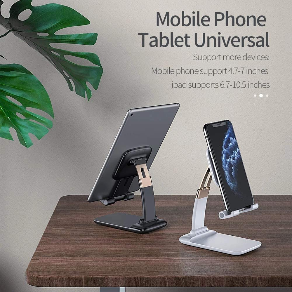 "iPhone-iPad Negro BeLight Soporte Universal Reforzado Ajustable para M/óvil Tablet 4/""-10.4/"" eReaders Multi/ángulo Dise/ño de Mesa Apple"