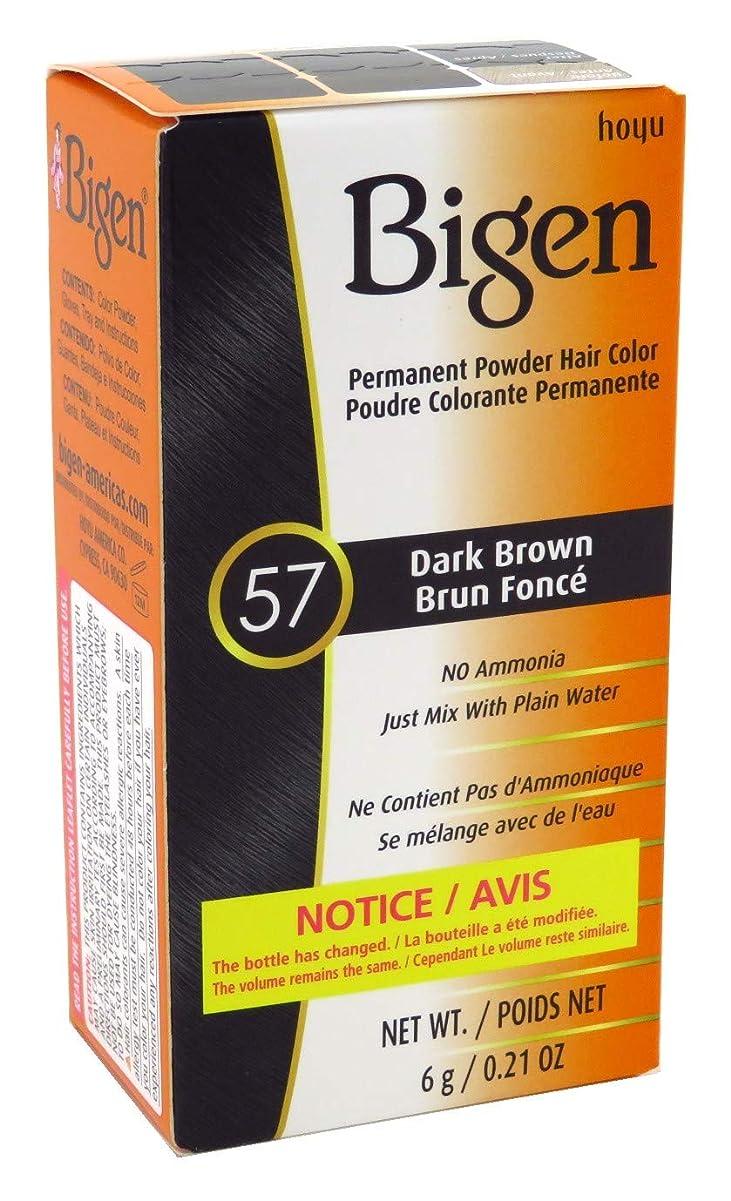 二層イタリック予測するBigen パウダーヘアカラー#57ダークブラウン0.21Oz(6パック) 0.21オンス(6パック) ダークブラウン