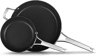 Calphalon 2029636 Premier Hard-Anodized Nonstick 2-Piece 8 12-Inch Frying Pan Set, 8/12 combo, Black