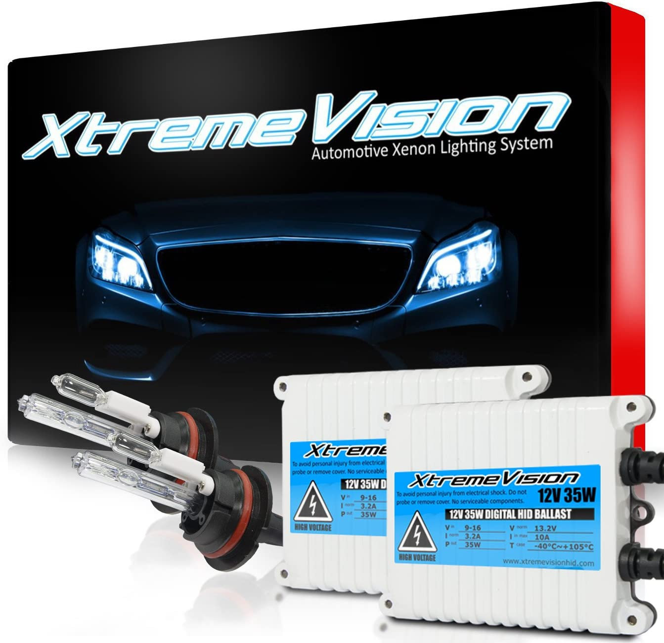 New York Mall XtremeVision 35W AC Xenon Animer and price revision Bundle with 9007 - Blu 10000K Dark 10K