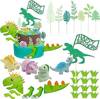 Dinosaur Cake Topper, Dinosaur Cake Decoration for Birthday, Baby shower, Wedding, Dinosaur Theme Party Favors Supplies
