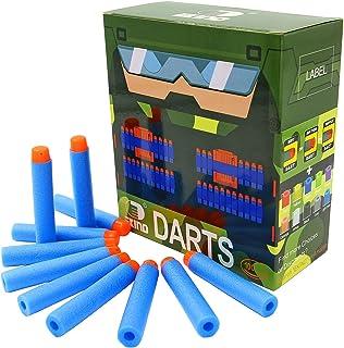 EKIND 100 Pcs 7.2cm Refill Bullet Foam Darts Compatible for Nerf N-Strike Elite Series Blasters Kid Toy Gun (Light Blue)