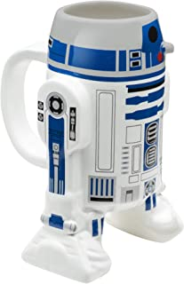 Zak Designs Star Wars R2D2 Unique 3D Character Sculpted Ceramic Coffee Mug, Collectible Keepsake and Wonderful Coffee Mug (10 oz., R2D2, BPA-Free)