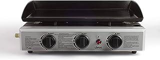 LIVOO DOC105 Plancha gaz, 7500 W, Noir et Argenté