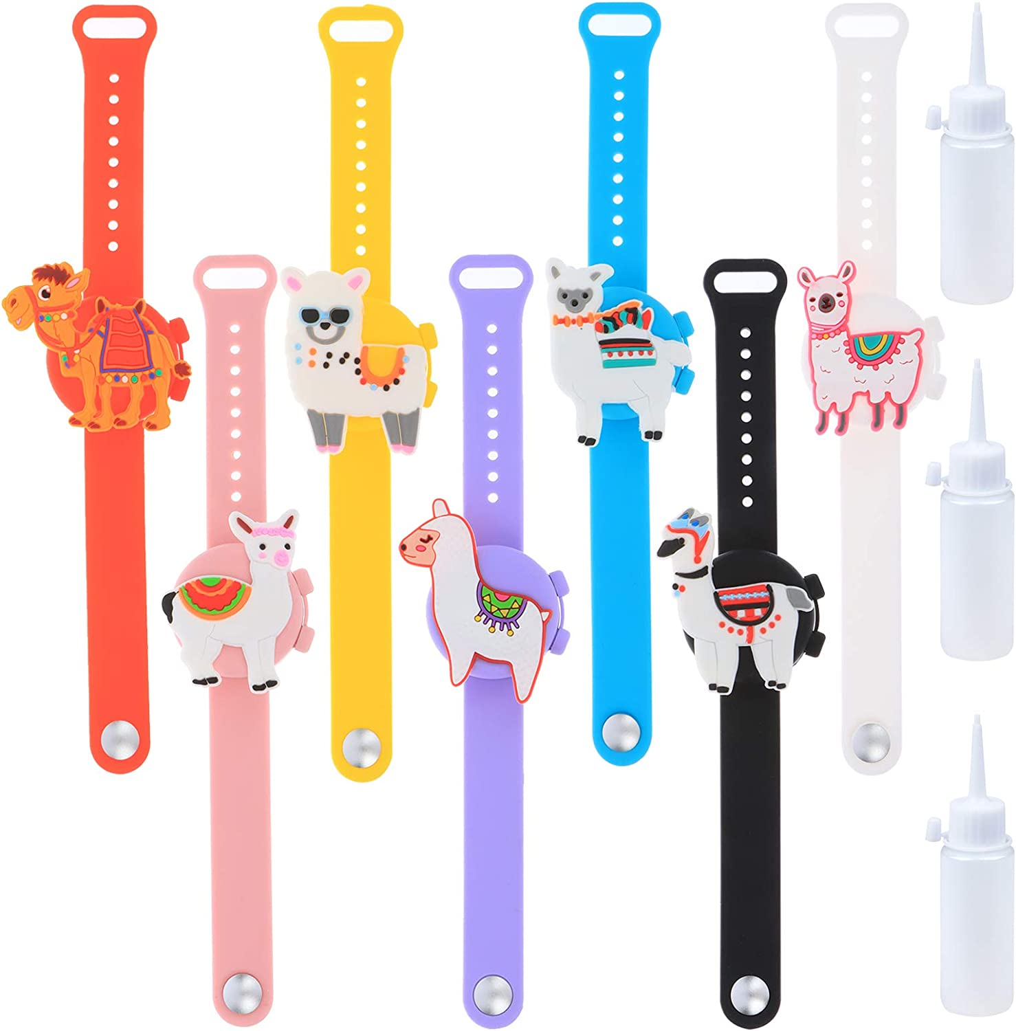 Ioffersuper 7Pcs Our shop most popular Kids Hand 70% OFF Outlet Soap Bottles 3 Refill Wristbands with