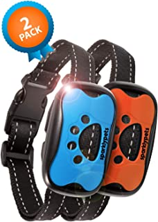 SparklyPets Humane Dog Bark Collar 2 Pack | Anti Barking Training Collar | Vibrating, No Shock Stop Barking for Small Medium Large Dogs | Upgrade 2019 Pet Corrector