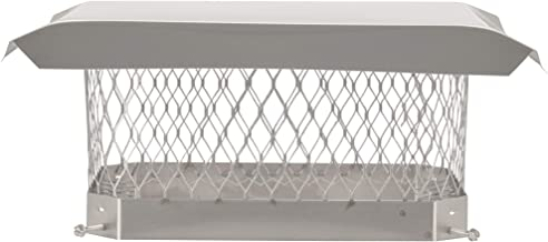 HY-C SCSS913 Shelter Bolt On Single Flue Chimney Cover, Mesh Size 3/4