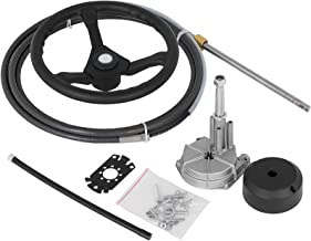 "Bestauto Outboard Steering System 16' Outboard Steering Kit 16 Feet Boat Steering Cable with 13"" Wheel Durable Marine Stee..."