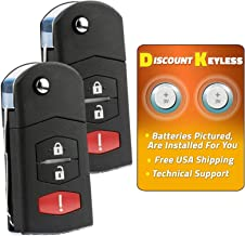Discount Keyless Car Remote Entry Replacement Uncut Ignition Flip Key Fob For Mazda CX-7 CX-9 SKE12501 (2 Pack)