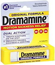 Dramamine - Nausea Relief - 50 mg Strength - Tablet - 12 per Bottle