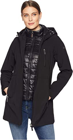 Softshell Jacket with Packable Bib Insert