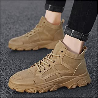 Boots for Men Casual Shoes Waterproof Winter Platform Hiking Shoes