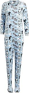 Ladies Sleepwear One-Piece Footed Onesie Pajama