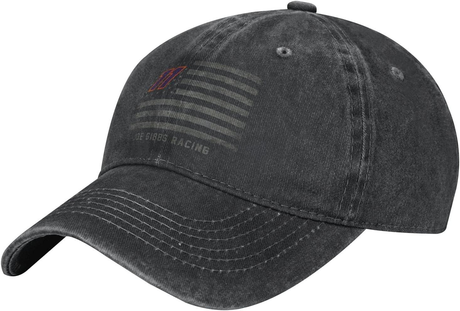 GAiNViEW Denny Hamlin Denim Cap Adjustable Plain Baseball Cowboy Hat Cotton Sunbonnet Plain Hat Black