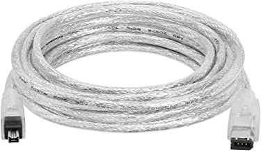 Cmple - 15FT FireWire IEEE 1394 Cable/iLink 6 Pin to 4 Pin Male to Male DV Cable 4-Pin to 6-Pin FireWire Cable Cord - 15 F...