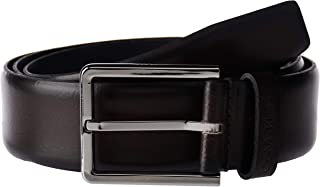 Calvin Klein 3.5CM ADJ.BOMBED BELT, DARK BROWN, 110 CM For Men's