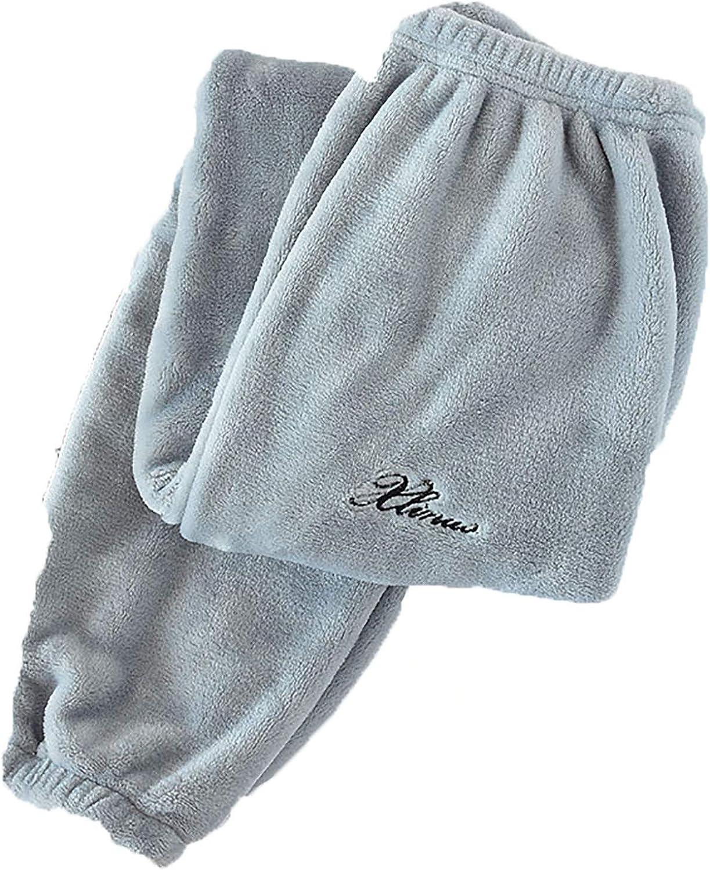Schlaf Unten Frauen Winter In Voller L/äNge Pyjamahose Flanell L/äSsig Weich Warm T/äGlich Homewear Plus Samt Paare Lose Hosen
