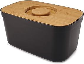 Joseph Joseph pojemnik na chleb z pokrywką deski do krojenia - czarny, jeden rozmiar