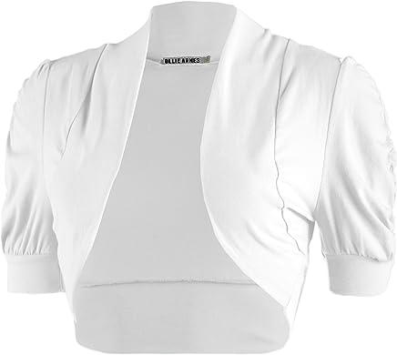 10bc61529d Ollie Arnes Women Basic Short Sleeve Versatile Bolero Shrug Cardigan Junior  Plus