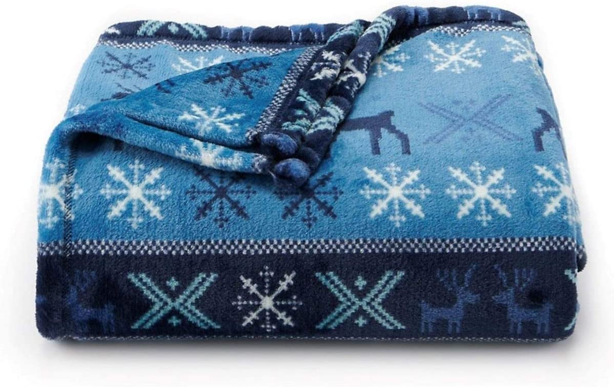The Big One Oversized Plush Throw Fair Cheap mail order shopping x - Classic 5ft Isle Blue S 6ft