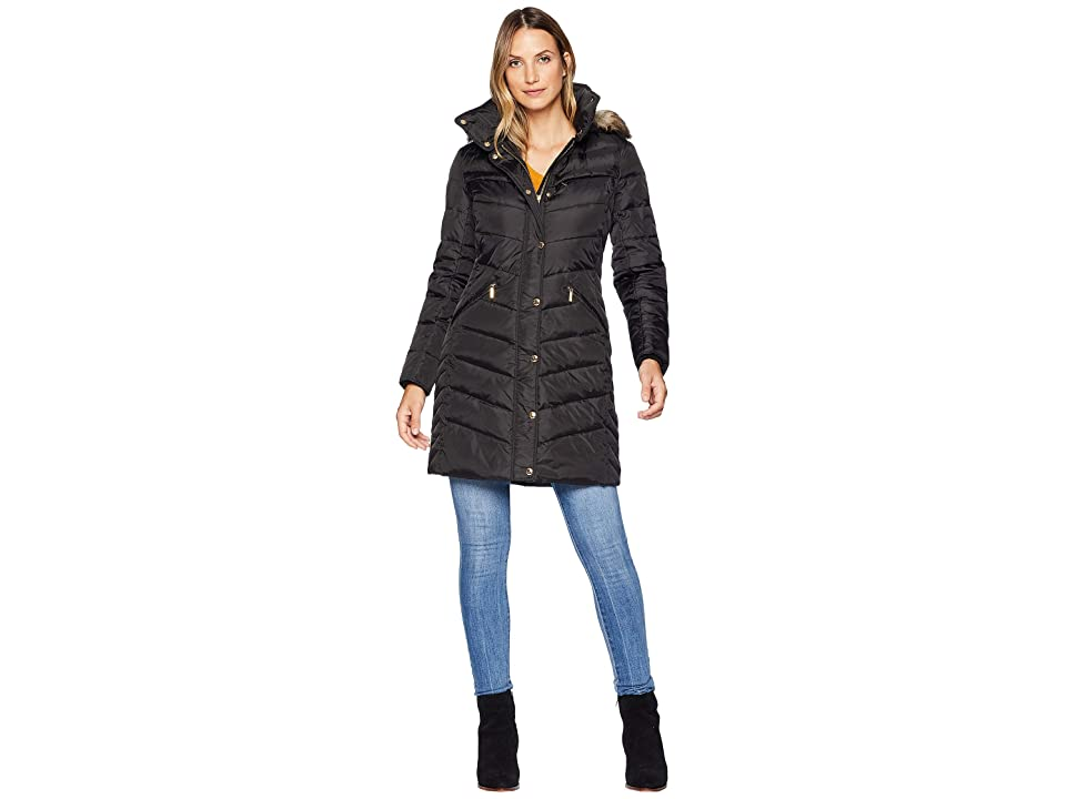 MICHAEL Michael Kors Snap Front 3/4 Down with Hood M823172G (Black) Women