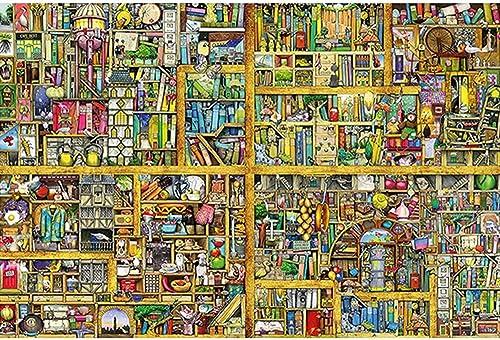 muchas concesiones GYZ Puzzles, Super Magic Big Bookshelf, Bookshelf, Bookshelf, 300 Piezas, Rompecabezas de Madera, Rompecabezas Planos, Series de fantasía, Regalos significativos Bricolaje  comprar mejor