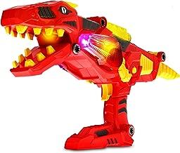 Mozlly Dinosaur Gun 3 in 1 Transforming Space Battle Take Apart Toy Gun with Lights & Sound Tyrannosaurus Rex Blaster Gun Super Charger T-Rex Cool Kids Dinosaur Toy LED Shooter for Boys Toddlers Kids