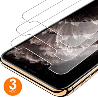 [3 Adet] mobile store Glass iPhone XS MAX Tamperli Cam Ekran Koruyucu [9H Sertlik] [Ultra HD]
