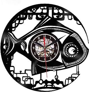 Vinyl Record Wall Clock, 12 Inch Reality Retro Clock, LED Wall Sticker, for Office, Living Room, Bedroom, Bar