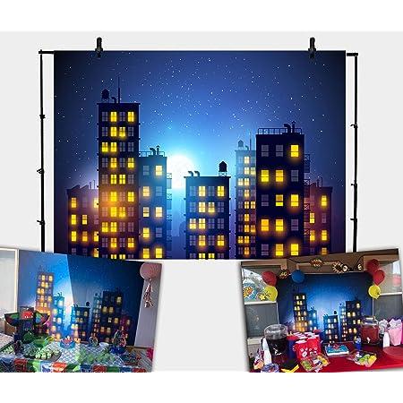 7x7FT Vinyl Photography Backdrop,City,Futuristic Distant World Photoshoot Props Photo Background Studio Prop