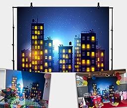 Daniu Photography Background Super Hero City Photo Studio Beautiful Moon Backdrops Vinyl 7x5FT 210cm X 150cm Daniu-sc029