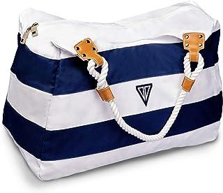 WildStage XL Strandtasche mit Reißverschluss - 45 x 24 x 36 cm - Hochwertige Schultertasche mit Innentasche - Saunatasche...